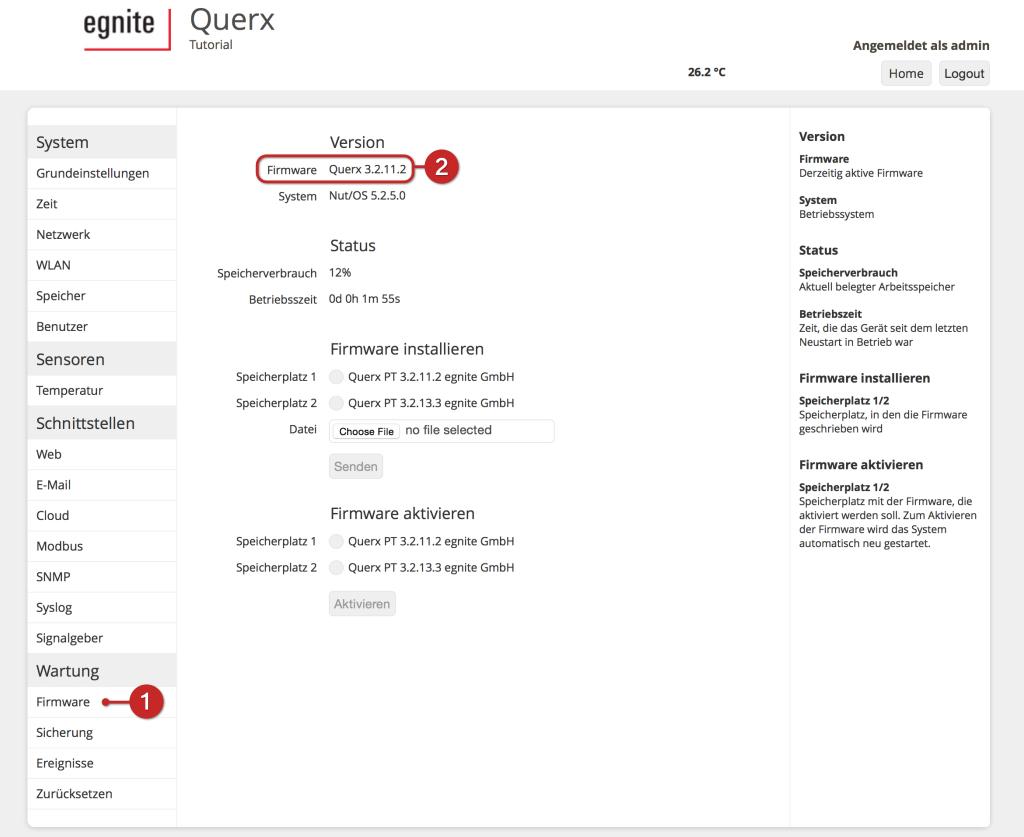 Tutorial: Querx Firmware-Update (S2)