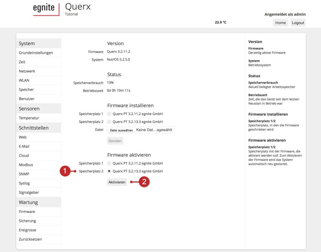 Tutorial: Querx Firmware-Update (S7)
