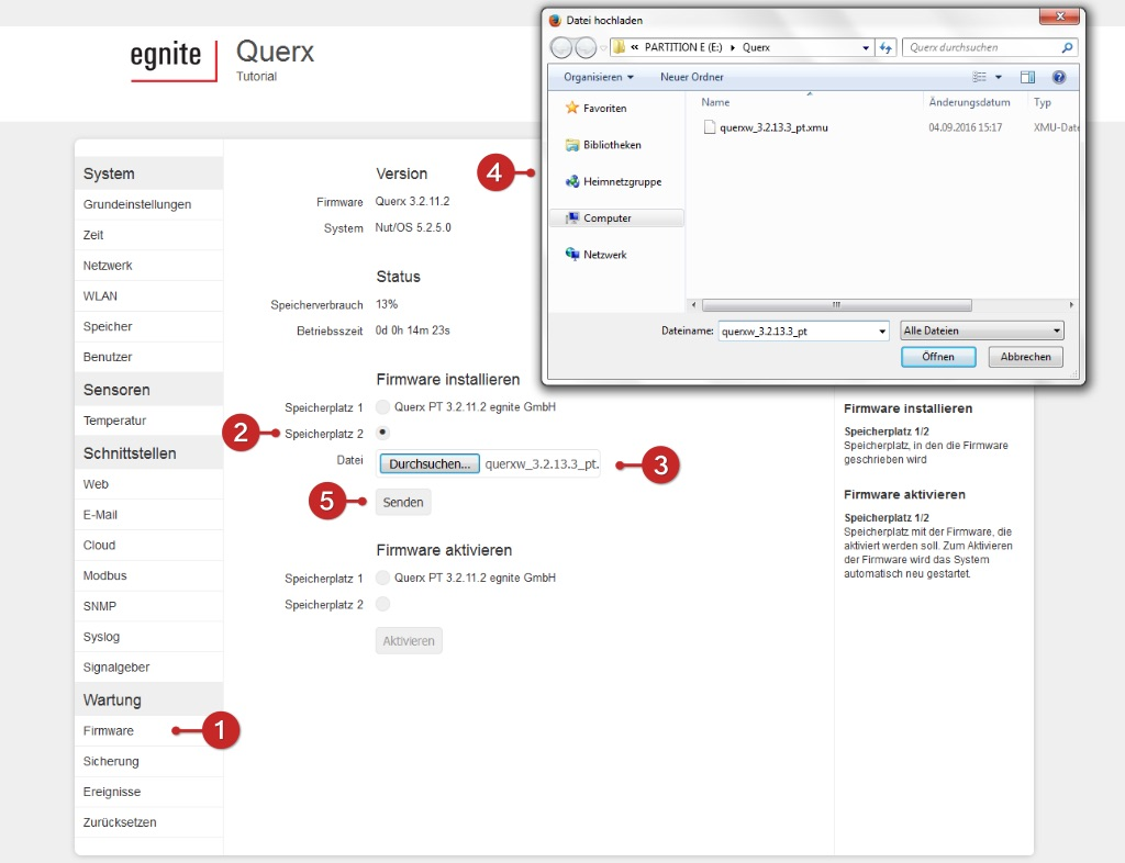 Tutorial: Querx Firmware-Update (S6)