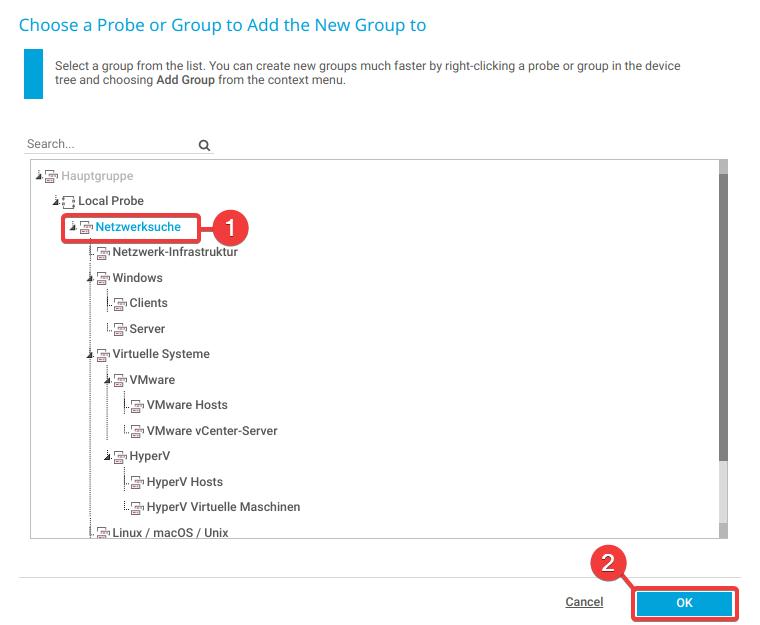 Paessler PRTG Add group